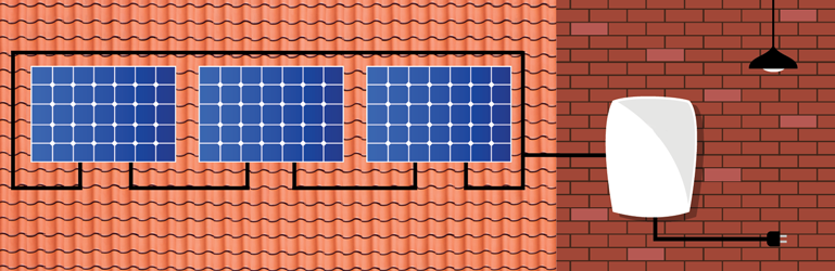 Solar Panel Installation- String System Diagram